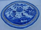 C. 1840 CHINESE EXPORT BLUE CANTON VEGETABLE DISH