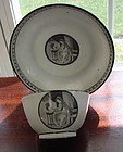 CIRCA 1875 FRENCH GRISAILLE CUP AND SAUCER