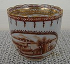 CIRCA 1775 CHINESE EXPORT AMERICAN MARKET DEMI CUP