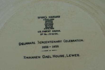 CIRCA 1930,12-SPODE MANSARD COPELAND DELAWARE PLATES