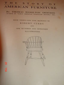 THE STORY OF AMERICAN FURNITURE,ORMSBEE
