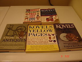 FIVE KOVEL'S ANTIQUES & COLLECTIBLE BOOKS