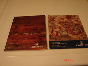 TWO CHRISTIE'S AUCTION CATALOGS CHINESE EXPORT