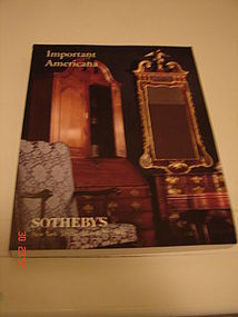 IMPORTANT AMERICANA SOTHEBY'S JAN. 21-22,2000