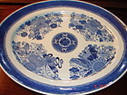 "C. 1800 BLUE FITZHUGH FABULOUS PLATTER 17 1/4""--PRICE CHANGE!!!"