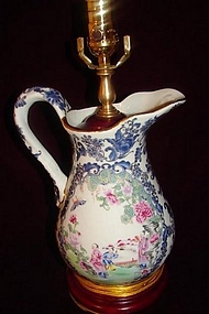 19TH CENTURY MANDARIN PITCHER CONVERTED INTO LAMP