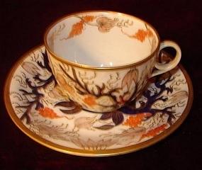 CIRCA 1850 ENGLISH CUP AND SAUCER IMARI #977