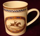 MOTTAHEDEH CHINESE EXPORT STYLE HUNTING MUG