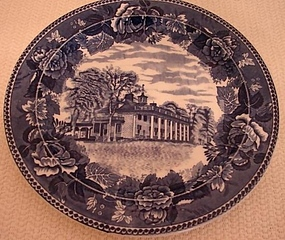 C.1900 WEDGWOOD HISTORICAL PLATE OF MOUNT VERNON