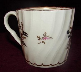 C. 1800 ENGLISH WORCESTER COFFEE CAN