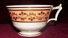 C. 1800 WORCESTER TEA CUP W/ LONDON HANDLE
