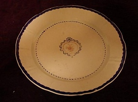 C. 1800 CHINESE EXPORT BLUE AND WHITE PLATE 9 1/4""