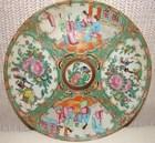 """C.1880 CHINESE EXPORT ROSE MEDALLION 10"""" DINNER PLATE"""