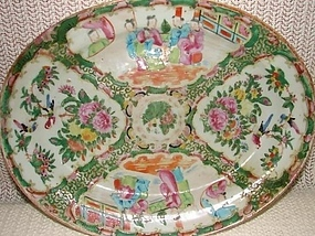 C. 1880 CHINESE EXPORT ROSE  MEDALLION PLATTER