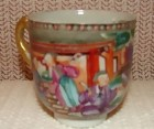 C. 1780 CHINESE EXPORT MANDARIN PALETTE DEMI-CUP,ONLY