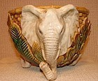 C.1880 MAJOLICA PLANTER WITH ELEPHANT MOTIF