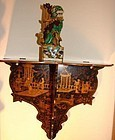 C. 1800 CHINESE EXPORT CANTON GILT LACQUER WALL SCONCE