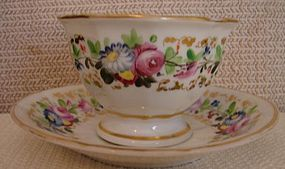 C. 1840 LARGE CUP / SAUCER,POSSIBLY TUCKER,PHILADELPHIA