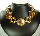 Architectural Scherrer Necklace Resin Citrines: France