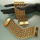 1990 Pr Karl Lagerfeld Heavy Chainmaille Link Bracelets