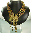 1970s Jay Feinberg Asymmetric Ornate Statement Necklace