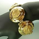 1970s Yves Saint Laurent Molten Gold Statement Bracelet