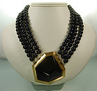 Statement 70s YSL Yves Saint Laurent Modernist Necklace