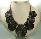 1970s YSL Yves Saint Laurent Rive Gauche Coin Necklace
