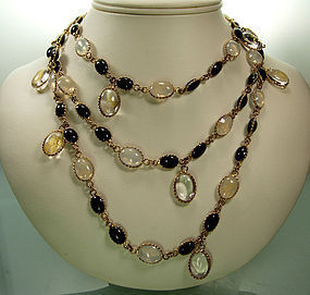 Histoire de Verre France Maison Gripoix Glass Necklace