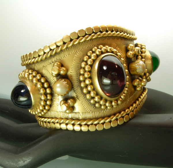 Yves Saint Laurent Byzantine Poured Glass Bracelet 1980