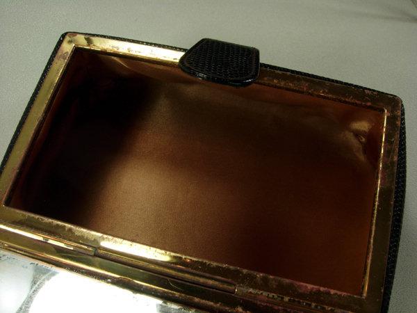 50s Black Lizardskin Diamante Small Bag Bienen Davis