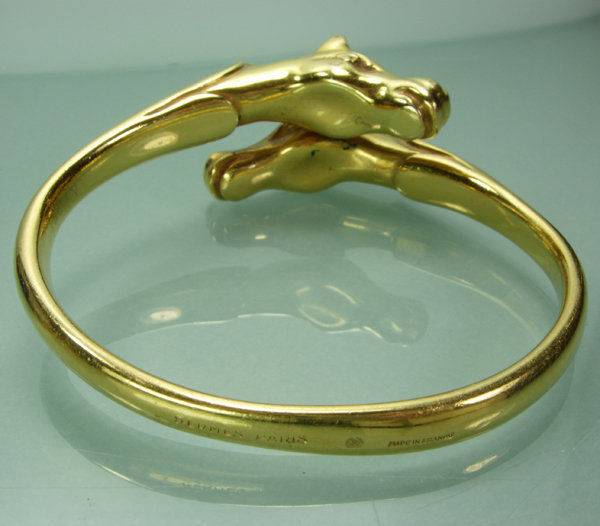 Hermes Paris Made in France Double Horse Head Bangle