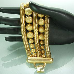 1980s Huge Snake Chain Bead Robert Lee Morris Bracelet