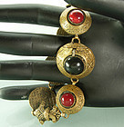 1940s Renaissance Style Poured Glass Bracelet France