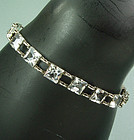 1920 Art Deco Sterling Silver Paste Riviere Bracelet