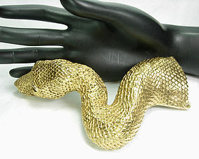Huge Christopher Ross Dated 1980 Snake Belt Buckle