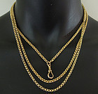 Antique Victorian 9KT Gold 53 Inch Necklace Chain