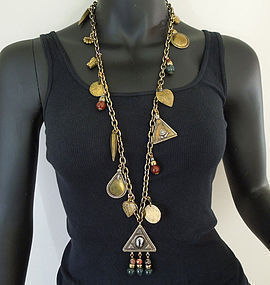 70s Early Heidi Daus for Jim Walters Charm Necklace