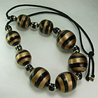80s Safari Stripe Runway Necklace Rose Benedetti