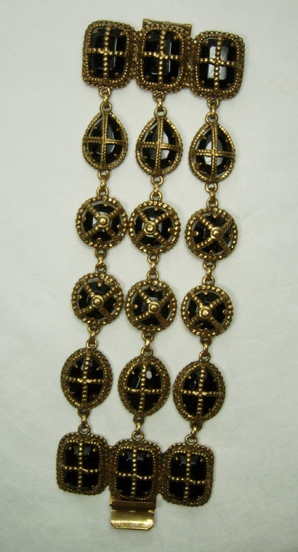1970s Huge Statement Byzantine Style Runway Bracelet