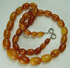 Vintage Butterscotch Egg Yolk Honey Baltic Amber Necklace 24.5 Grams