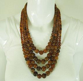 80s Monies 4 Row Horn Necklace Runway Couture Gerda Lynggaard