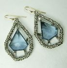 Alexis Bittar Blue Quartz Swarovski Crystal Encrusted Drop Earrings