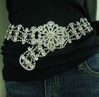 1980s Huge Kenneth Lane KJL Rhinestone Belt Runway Couture Statement