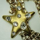80s Kenneth Lane KJL Very Big Star Brooch Brilliant Headlight Stones