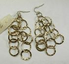Kenneth Lane Couture Collection Earrings Tribal Style Hammered 3.5 In.