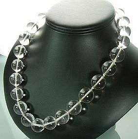 1930s Deco 17 MM Rock Crystal Pools of Light Necklace