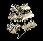 1940s Los Castillo Mexico Sterling Heavy Link Bracelet