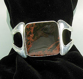 Sigi Pineda Sterling Jasper Modernist Bracelet Book Pc