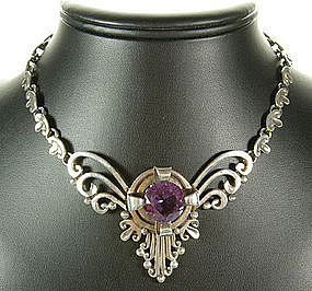 Nestor Mexico Sterling Synthetic Alexandrite Necklace
